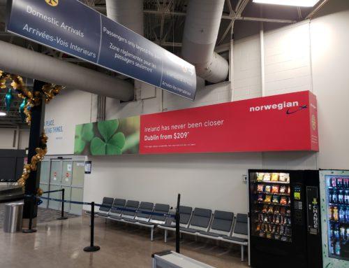 Wall Vinyl for Hamilton Airport