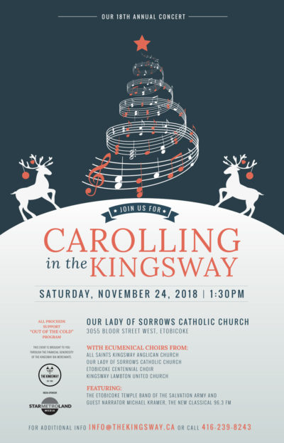 Carolling in the Kingsway poster