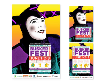 Dundas Buskerfest 2018 Poster and postcards