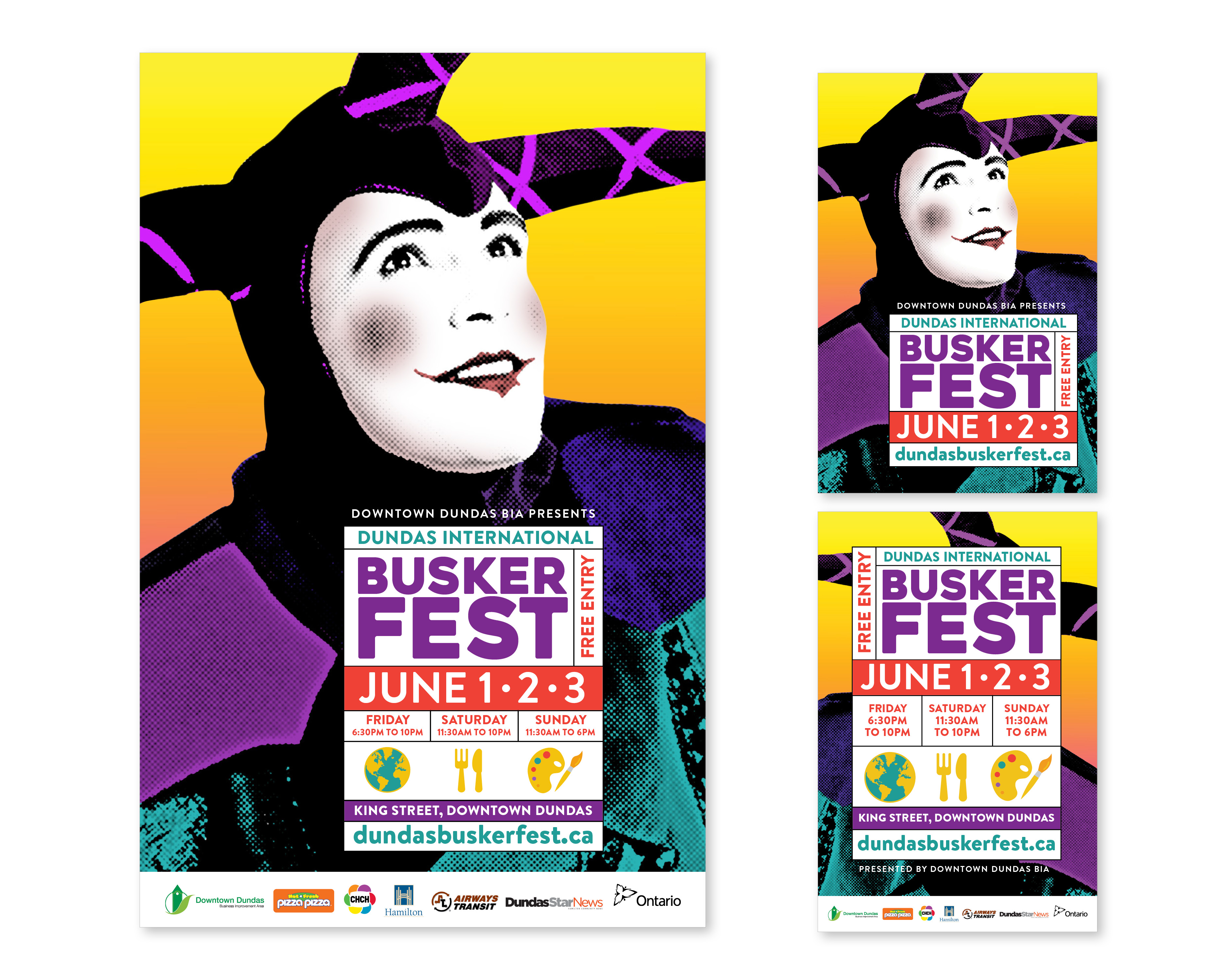 Dundas Buskerfest 2018 Poster and postcards