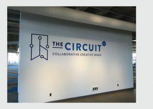 Circuit cut vinyl wall