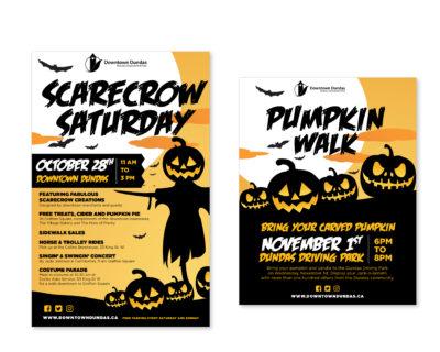 Dundas BIA Halloween posters