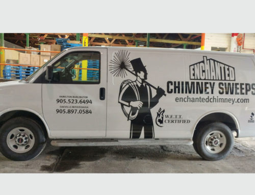 Enchanted Chimney Cut Vinyl and Install