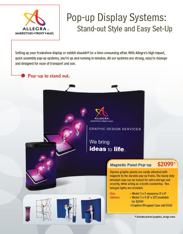 Pop up display systems