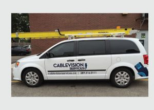 Cablevision cut vinyl vehicle